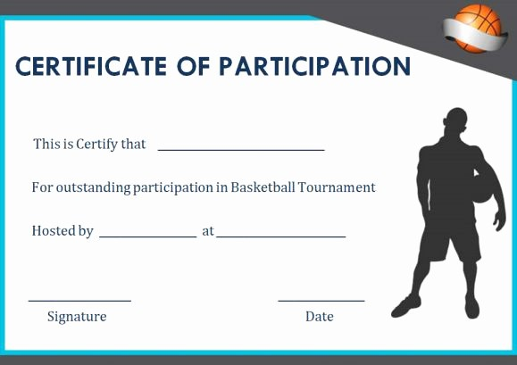 Player Of the Game Certificates Inspirational Basketball Participation Certificate 10 Free