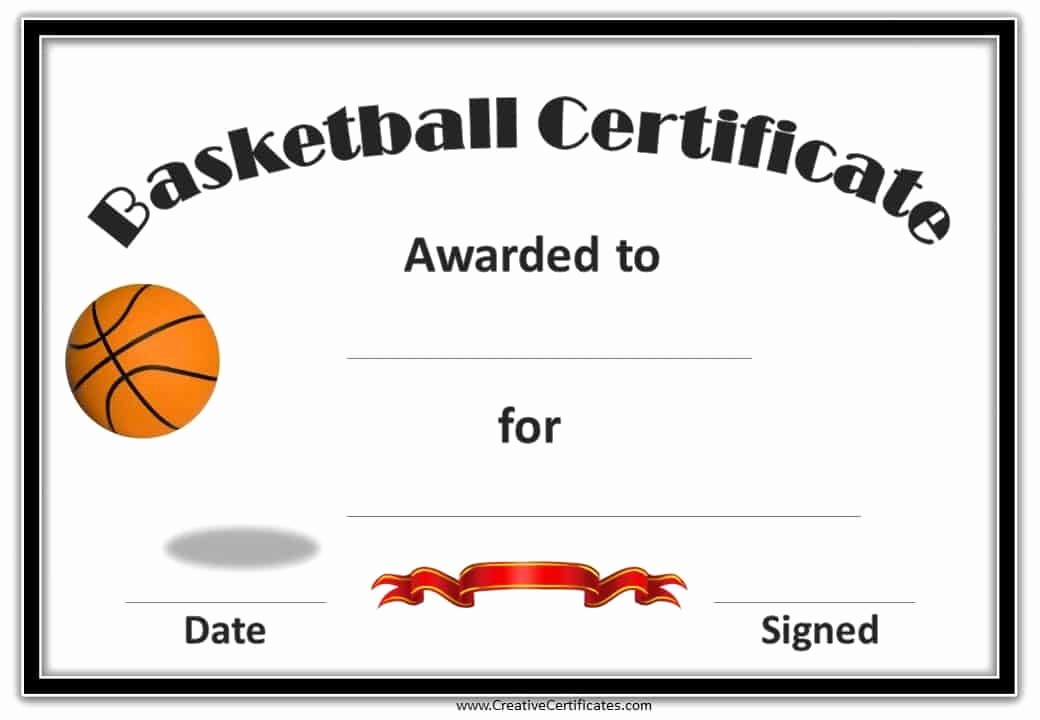Player Of the Game Certificates Lovely Free Editable Basketball Certificates