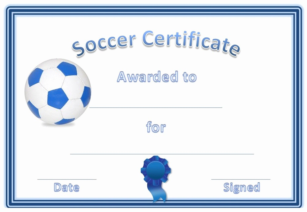 Player Of the Game Certificates Lovely soccer Award Certificates