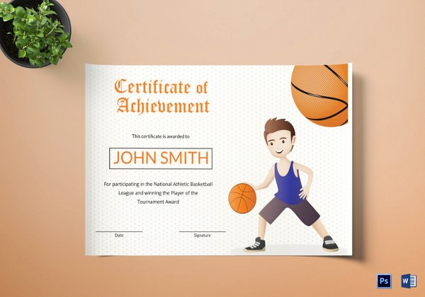 Player Of the Game Certificates New 14 Basketball Certificate Templates Psd