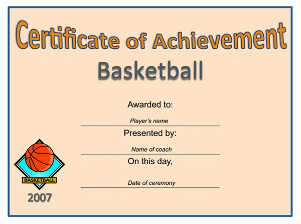 Player Of the Game Certificates New Printable Sports Certificates