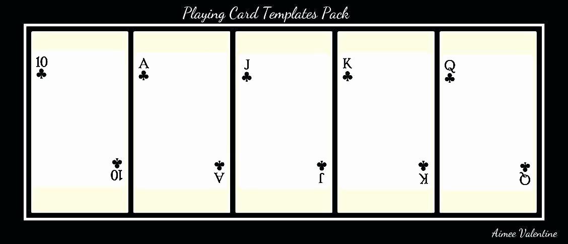 Playing Card Template Microsoft Word Beautiful 99 Playing Card Word Template Free Printable Flash