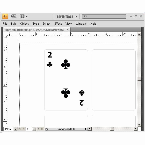 Playing Card Template Microsoft Word Elegant 13 Playing Card Design Template Printable Blank
