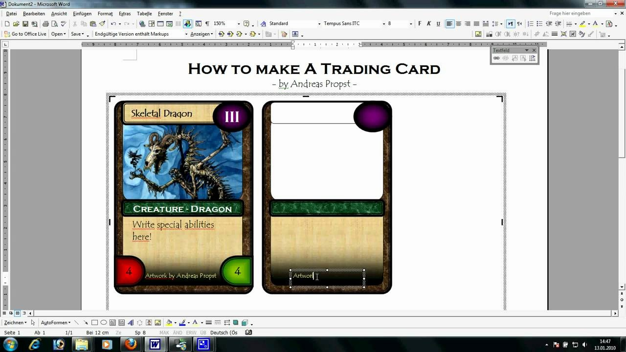 Playing Card Template Microsoft Word Elegant Card Making Tutorial Large Avi