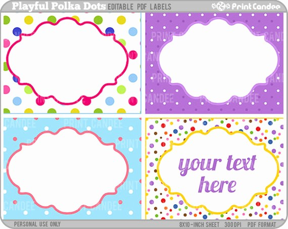 Polka Dot Template for Word Awesome 7 Best Of Free Editable Printable Gift Tags Free