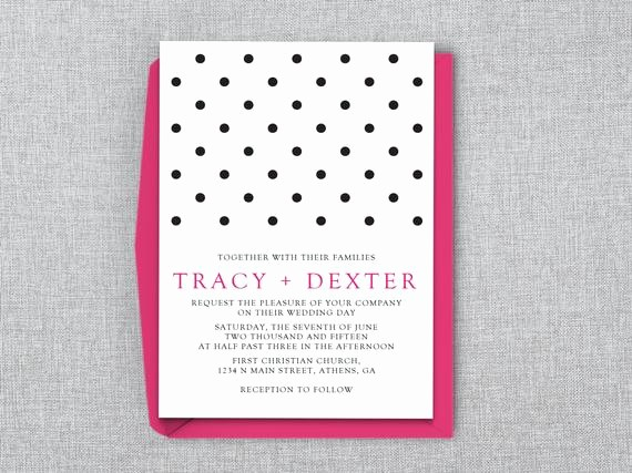 Polka Dot Template for Word Best Of Polka Dot Wedding Invitation Template Ms Word by Lashepherd