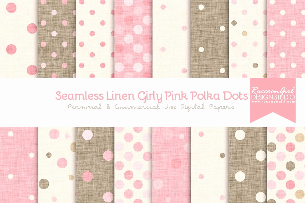 Polka Dot Template for Word Fresh Seamless Linen Girly Pink Polka Dots Textures Creative