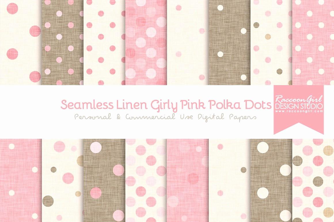 Polka Dot Template for Word Fresh Seamless Linen Girly Pink Polka Dots Textures Creative