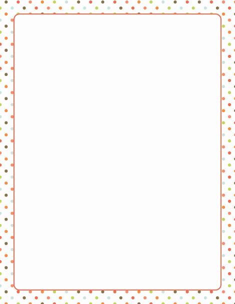Polka Dot Template for Word Inspirational A Polka Dot Border Featuring Dots In assorted Colors Free