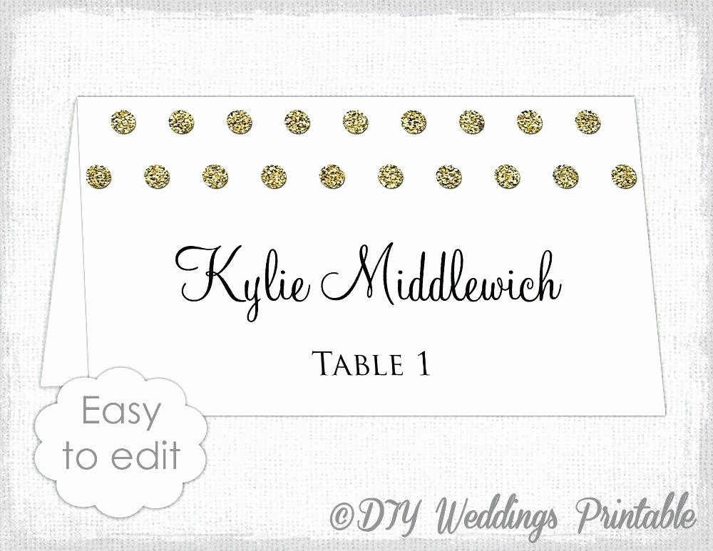 Polka Dot Template for Word Inspirational Place Card Template for Word Blank with Folding Archives