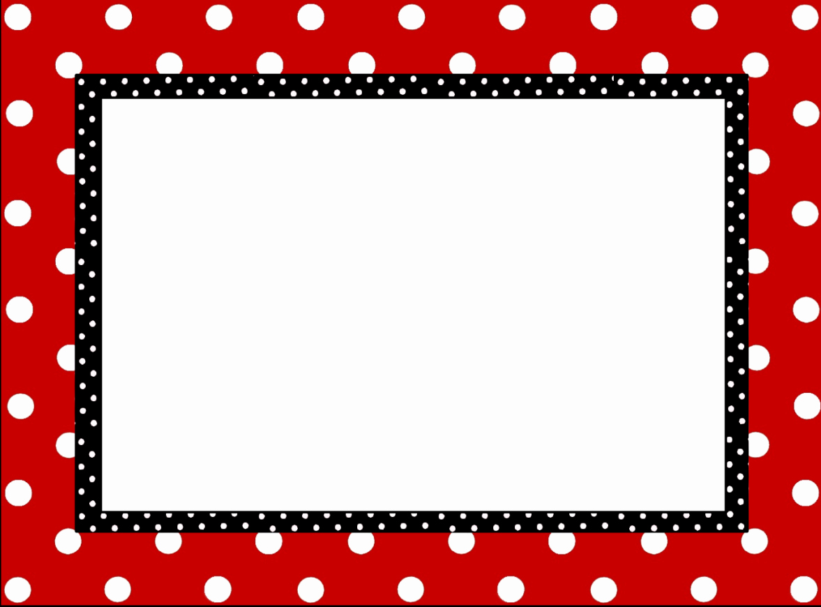 Polka Dot Template for Word Lovely Black and White Polka Dot Page Border S