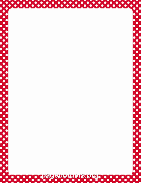 Polka Dot Template for Word Luxury Red and White Polka Dot Border