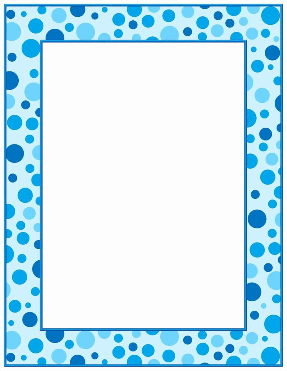 Polka Dot Template for Word New 4 Best Of Printable Polka Dot Borders Blue Polka