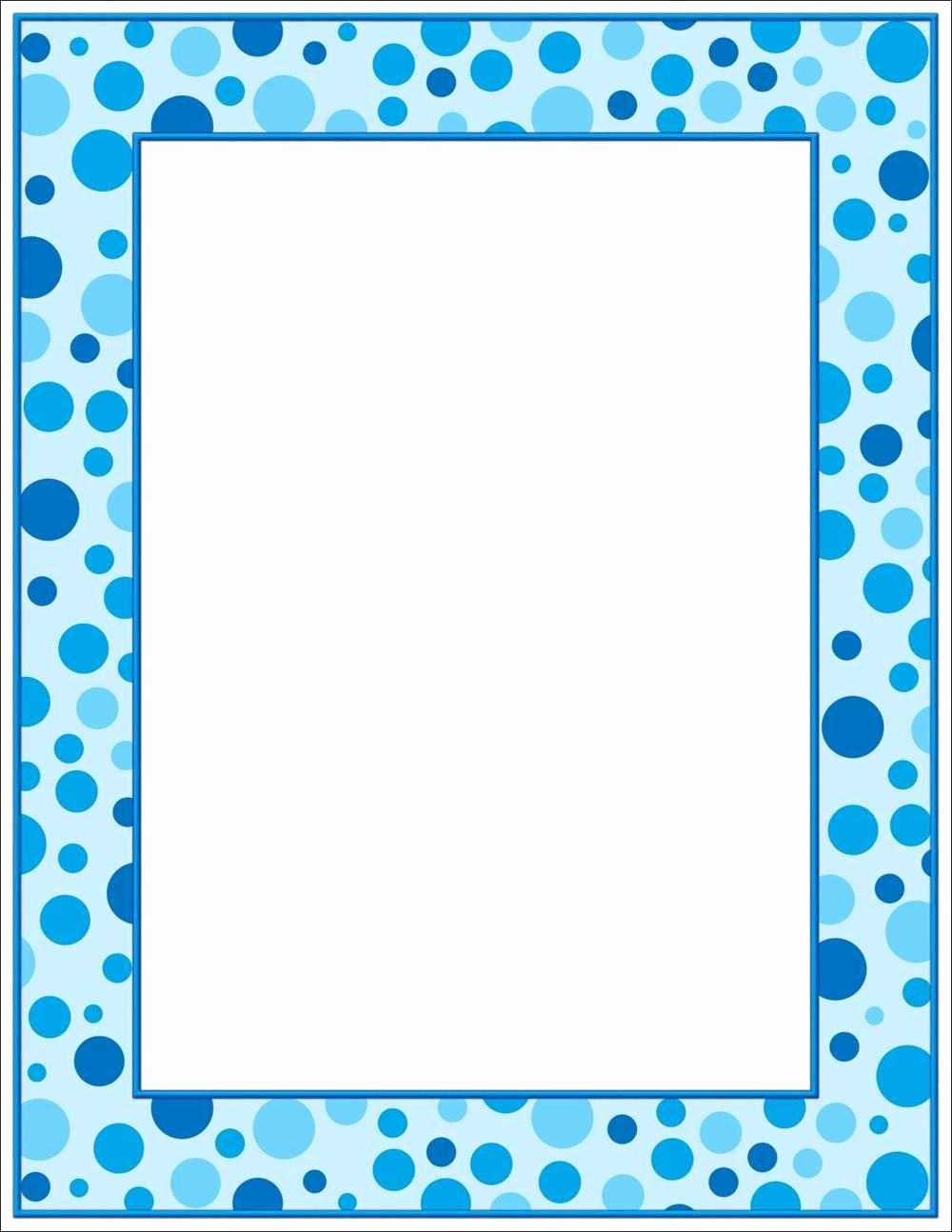 Polka Dot Template for Word New 4 Best Of Printable Polka Dot Borders Blue Polka