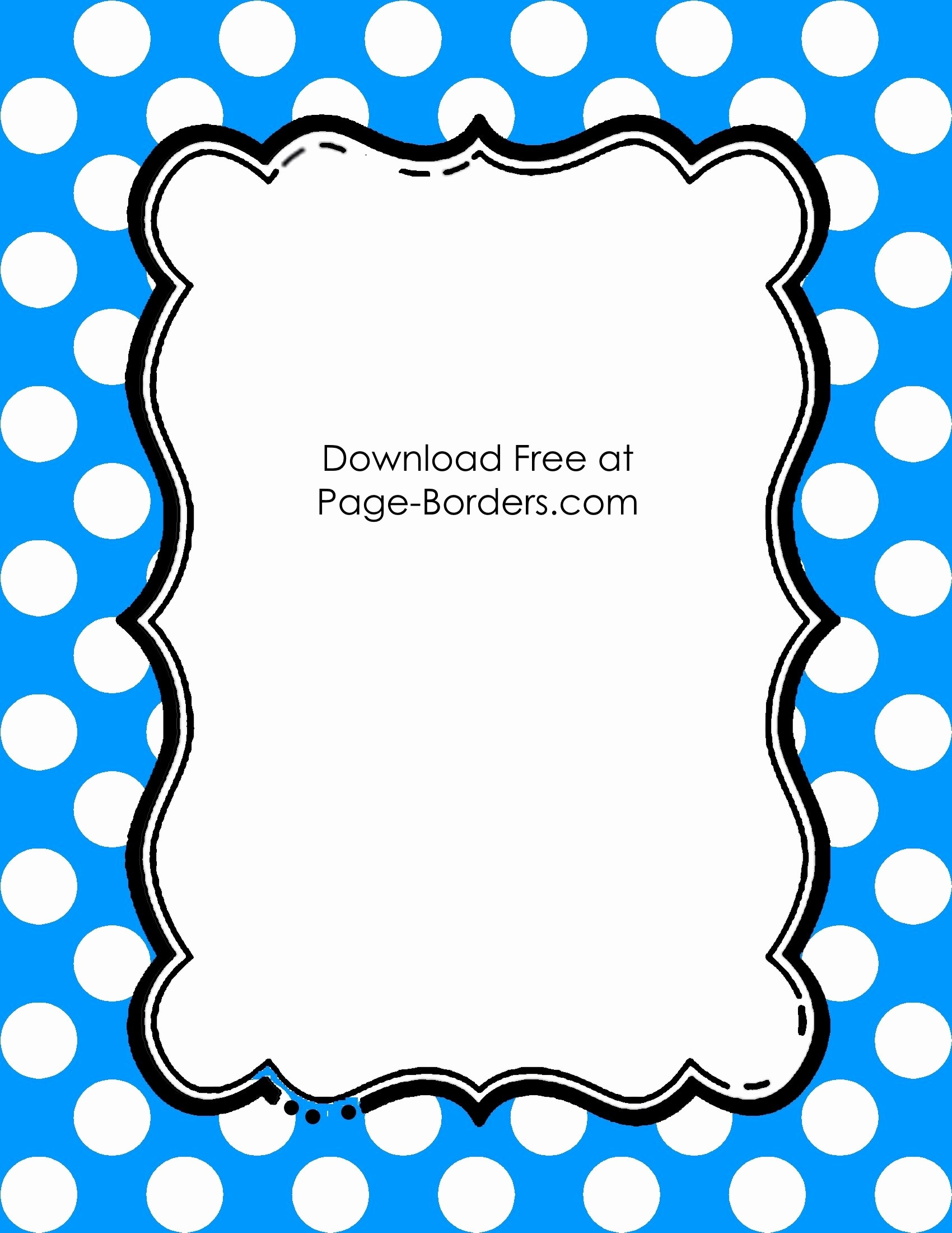 Polka Dot Template for Word New Free Polka Dot Border Templates In 16 Colors