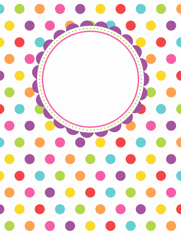 Polka Dot Template for Word New Free Printable Polka Dot Binder Cover Template Download