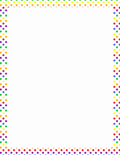 Polka Dot Template for Word New Polka Dot Border for Word to Pin On Pinterest