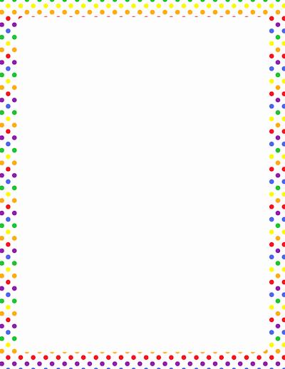 Polka Dot Template for Word New Polka Dot Border for Word to Pin On Pinterest