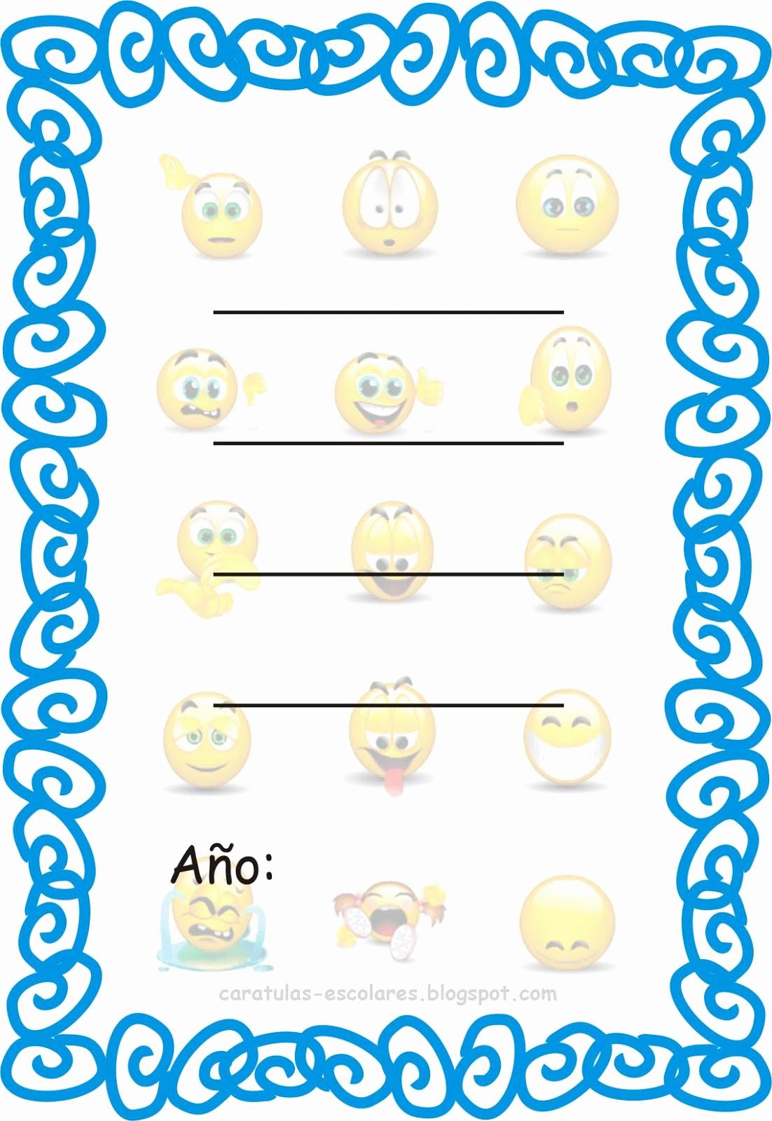 Portada De Un Trabajo Escolar Inspirational Caratulas Escolares Emoticones De Internet