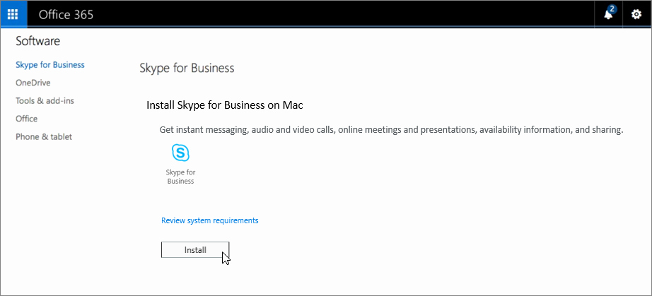 Portal-office-com Fresh Install Skype for Business Fice Support