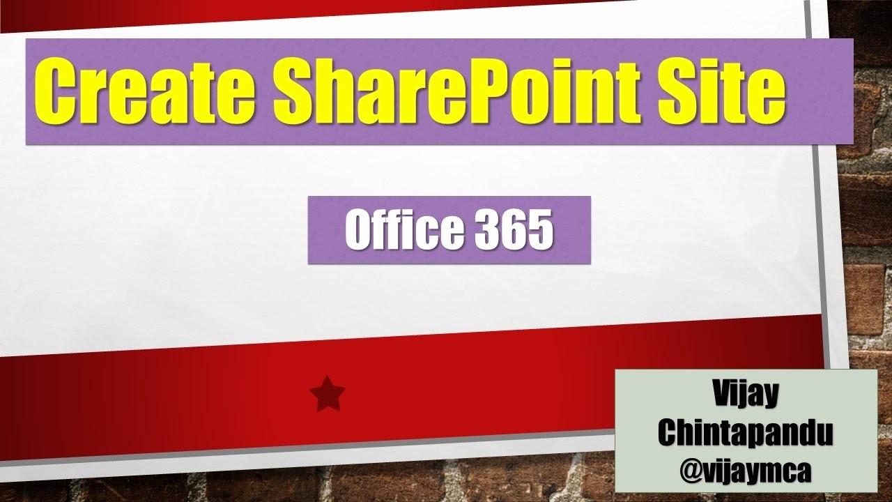 Portal-office-com New Create Point Site Fice 365
