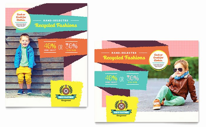 Poster Template Free Microsoft Word Awesome Kids Consignment Shop Poster Template Design