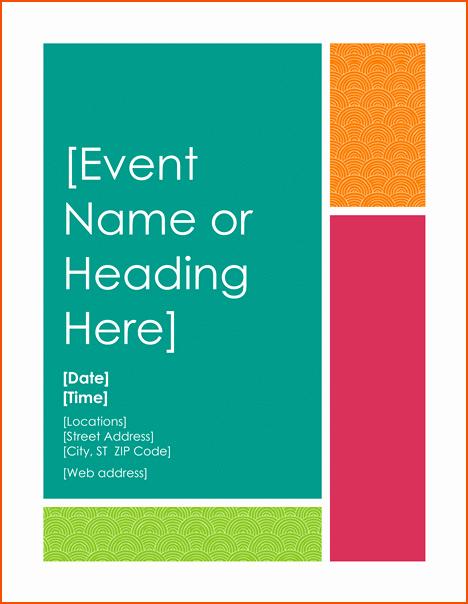 Poster Template Free Microsoft Word Elegant 6 Microsoft Word Flyer Templates Bookletemplate