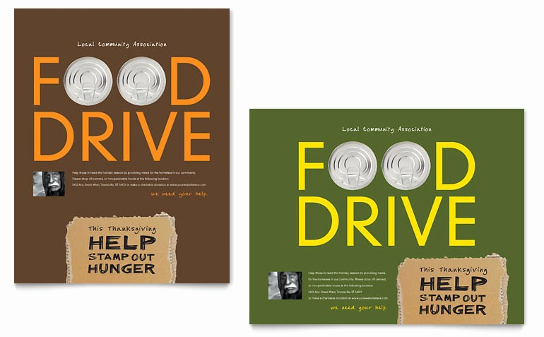 Poster Template Free Microsoft Word Fresh Holiday Food Drive Fundraiser Poster Template Word