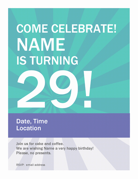 Poster Template Free Microsoft Word Lovely Birthday Poster