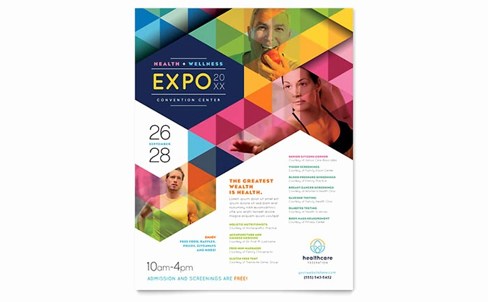 Poster Template Free Microsoft Word Lovely Health Fair Flyer Template Word & Publisher