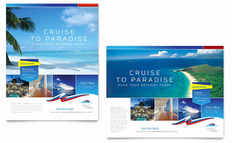 Poster Template Free Microsoft Word Luxury Cruise Travel Poster Template Word & Publisher
