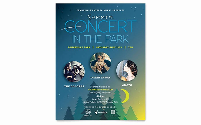 Poster Template Free Microsoft Word New Summer Concert Flyer Template Word & Publisher
