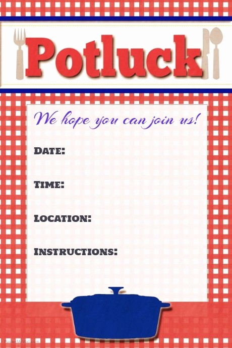 Potluck Invitation Template Free Printable Beautiful Potluck Flyer Potluck Poster Invitation Announcement Sign