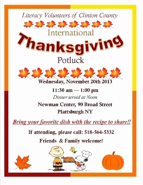 Potluck Invitation Template Free Printable Beautiful Thanksgiving Potluck Flyer Template Free – Danielmelofo