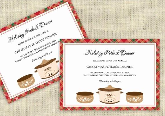 Potluck Invitation Template Free Printable Fresh Holiday Potluck Invitation Template Download by