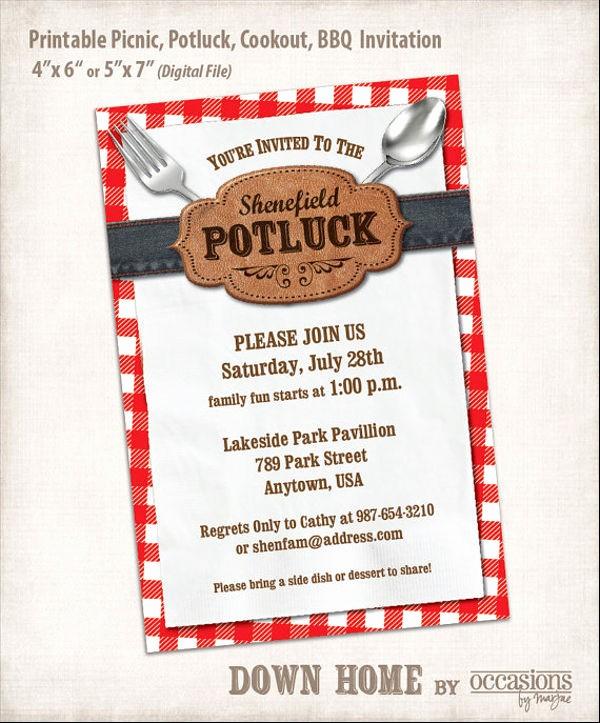 Potluck Invitation Template Free Printable Inspirational 11 Potluck Email Invitation Templates Psd Ai