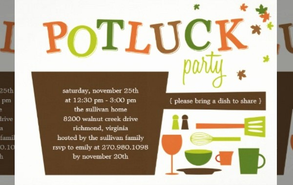 Potluck Invitation Template Free Printable Inspirational Potluck Invitation Template – orderecigsjuicefo
