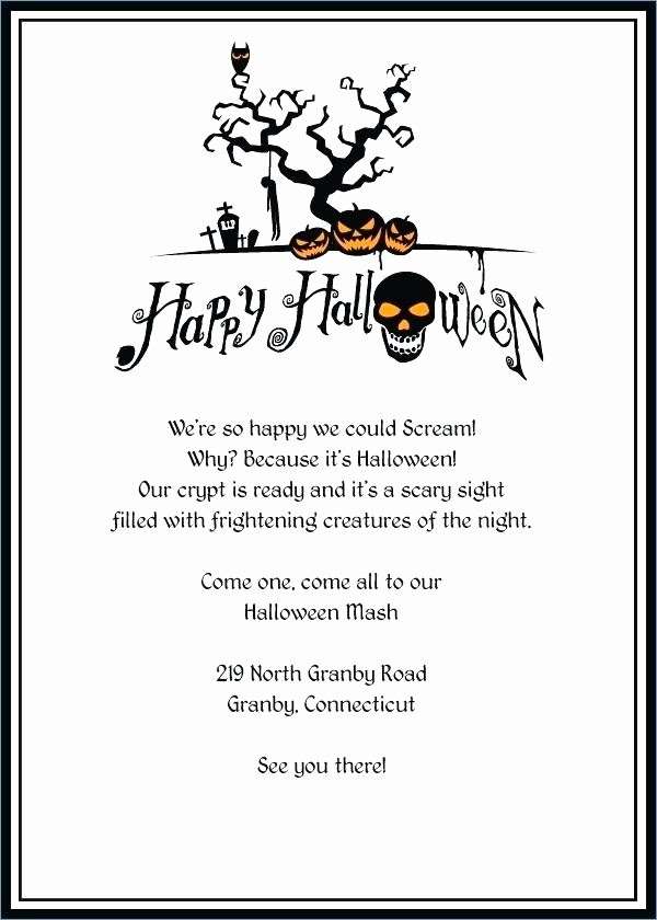 Potluck Invitation Template Free Printable Inspirational Printable Halloween Party Invitation Templates Best
