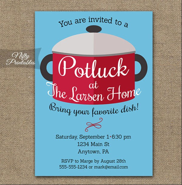 Potluck Invitation Template Free Printable Lovely 10 Potluck Email Invitation Templates Design Templates