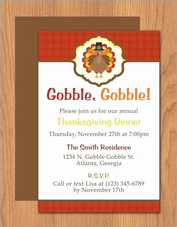 Potluck Invitation Template Free Printable Lovely Potluck Invitation Template Thanksgiving Turkey Dinner