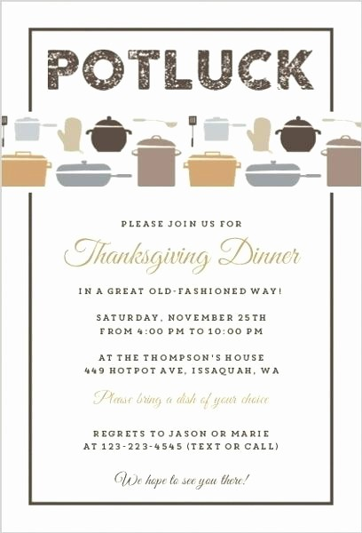 Potluck Invitation Template Free Printable Lovely Thanksgiving Potluck Flyer Template Free – Danielmelofo