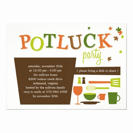 Potluck Invitation Template Free Printable Lovely Thanksgiving Potluck Party Invitation