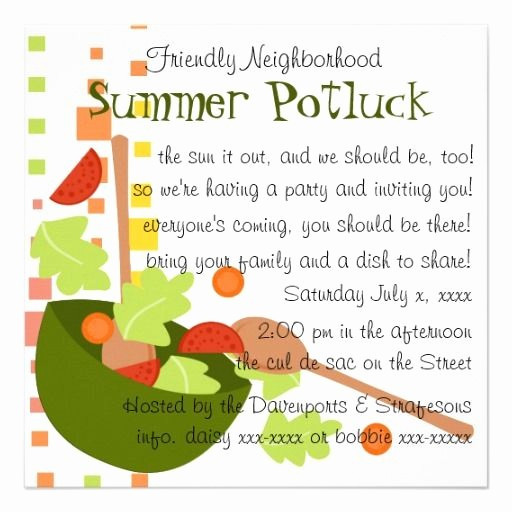 Potluck Invitation Template Free Printable Unique Cute Potluck Invitation Wording