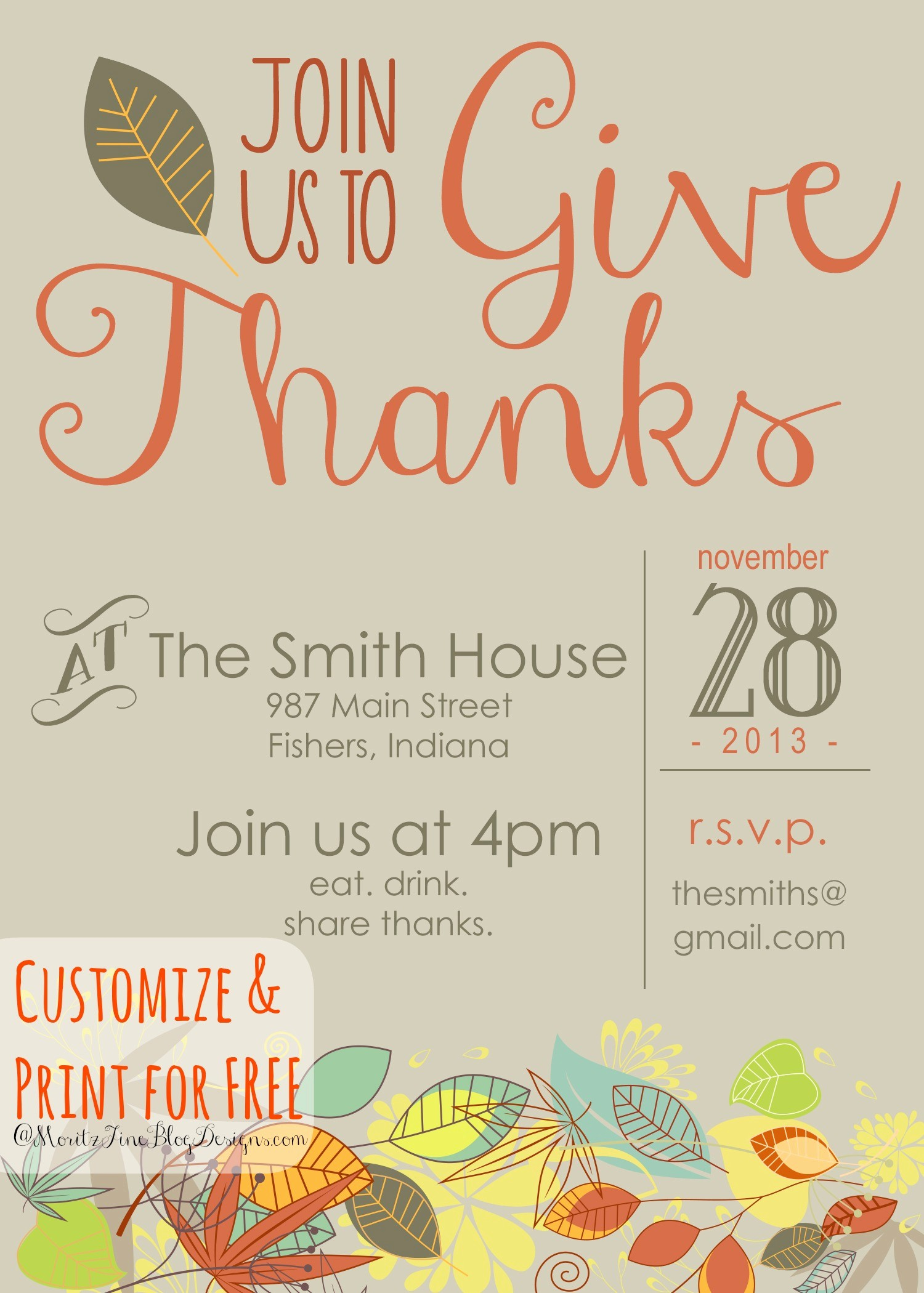 Potluck Invitation Template Free Printable Unique Free Thanksgiving Dinner Invitations Templates – Happy