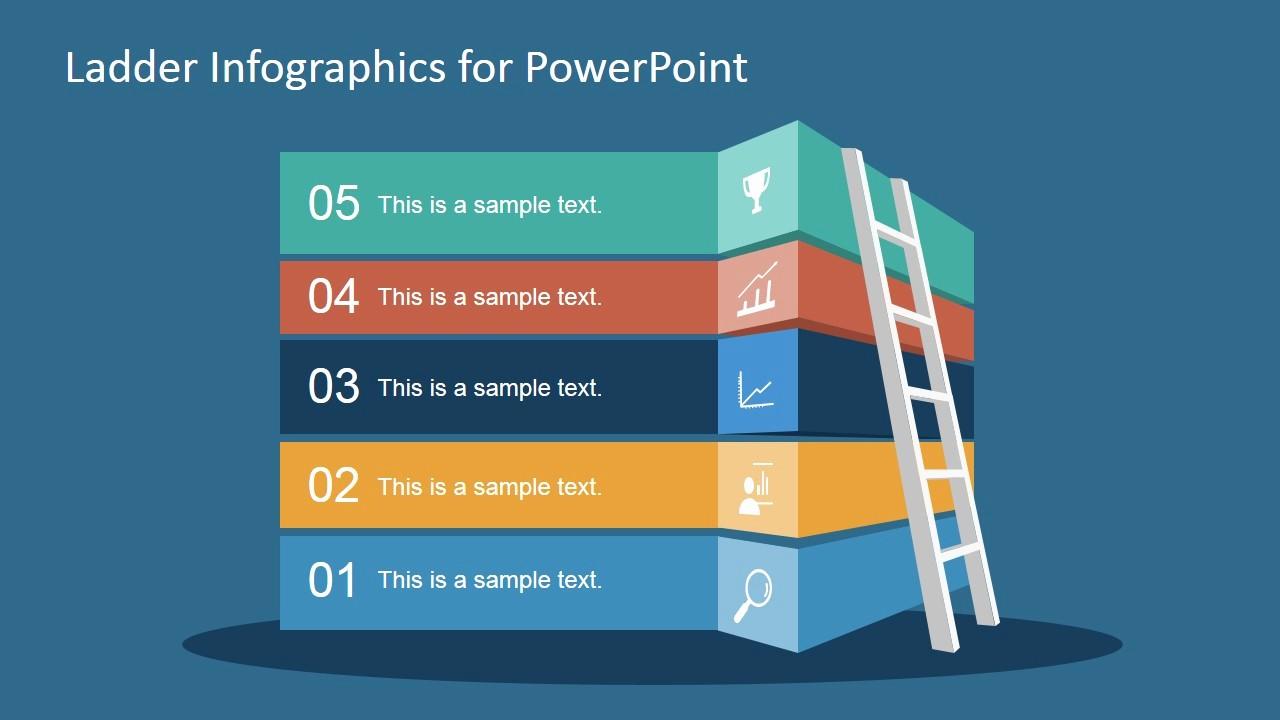 Powerpoint Presentation Design Free Download Elegant Free Ladder Infographic Slide for Powerpoint Slidemodel