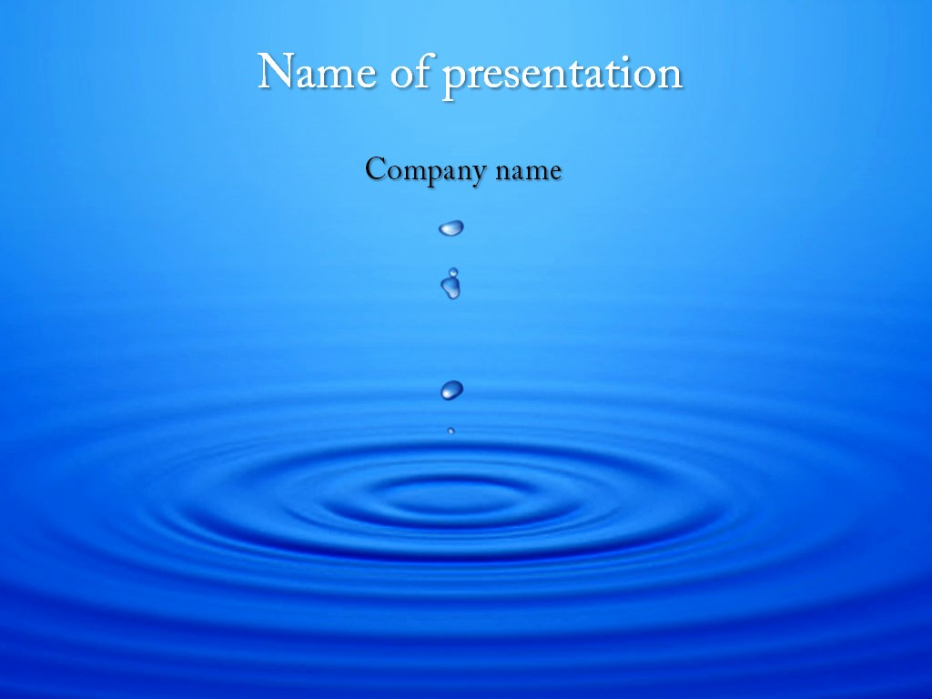 Powerpoint Presentation Slides Free Download Awesome Download Free Water Motion Powerpoint Template for