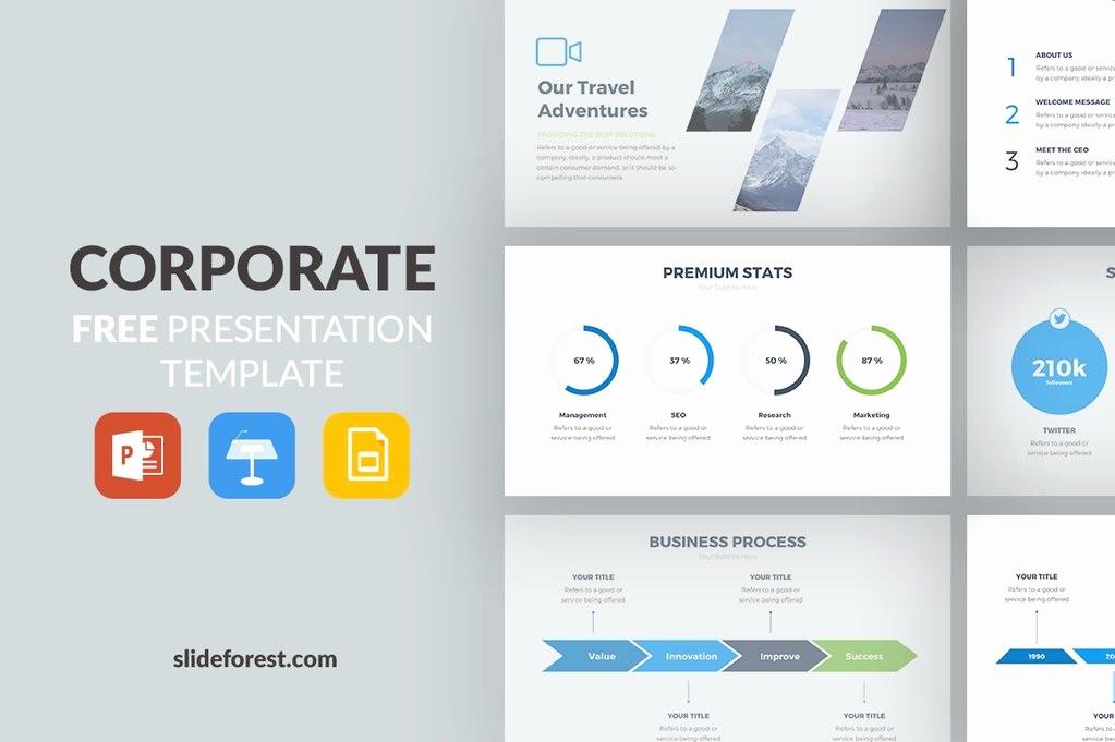 Powerpoint Presentation Slides Free Download Luxury Corporate Free Presentation Template Presentations
