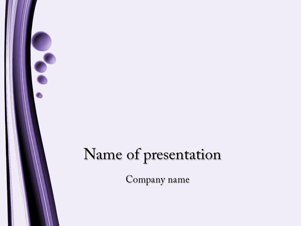 Powerpoint Presentation Slides Free Download Unique Violet Bubbles Powerpoint Template for Impressive
