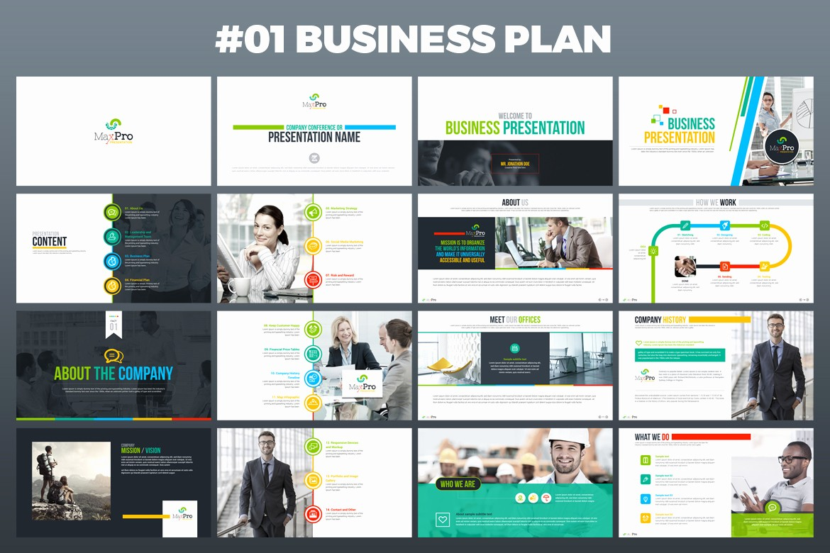 Powerpoint Slide Templates for Business Luxury Maxpro Business Plan Powerpoint Presentation Template