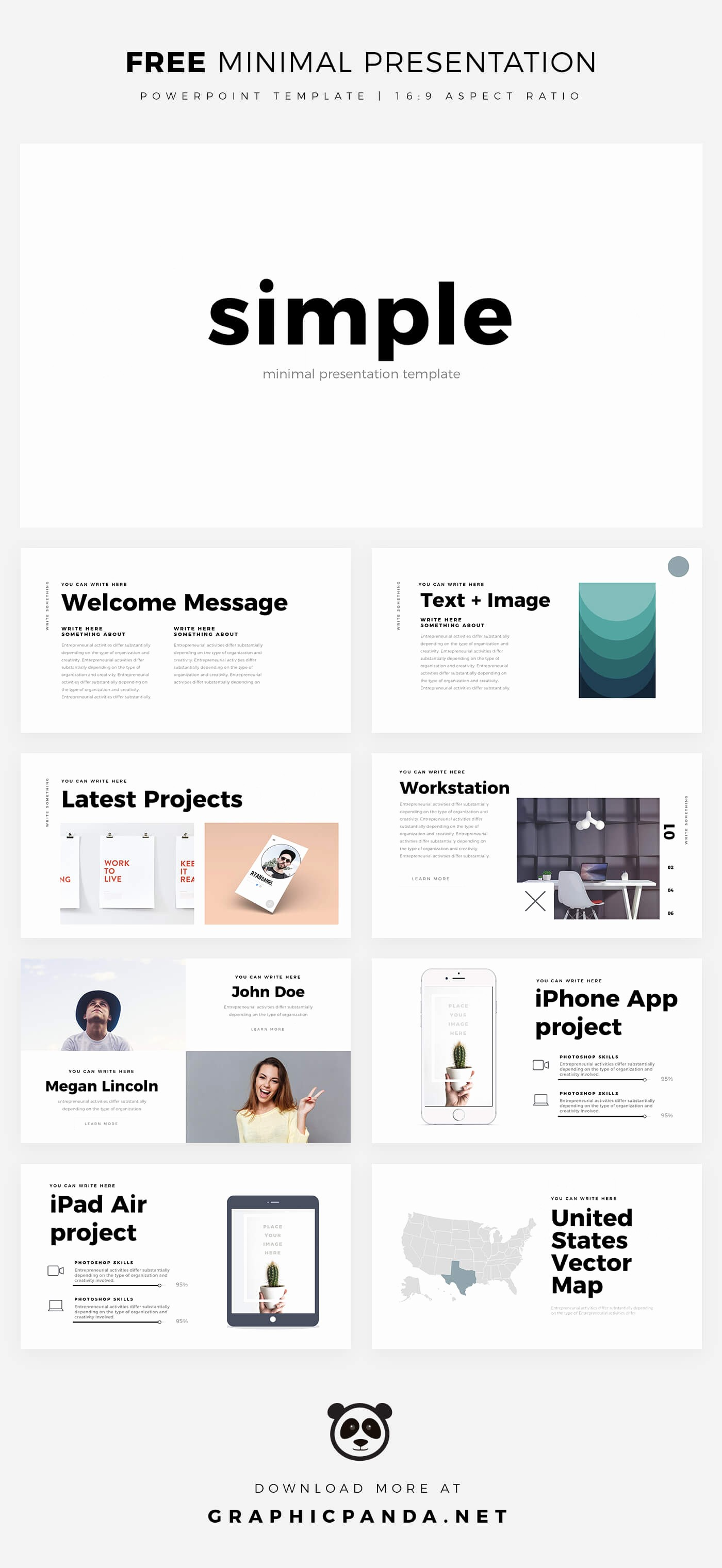 Powerpoint Slide Templates Free Download Best Of Simple Minimal Free Powerpoint Template Pptx Download
